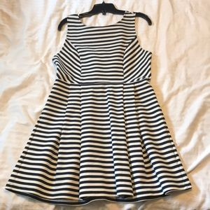 Forever 21 Navy Stripe Dress, Excellent condition